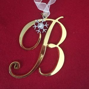 "🎅🏻 Initial ""B"" Christmas Ornament"
